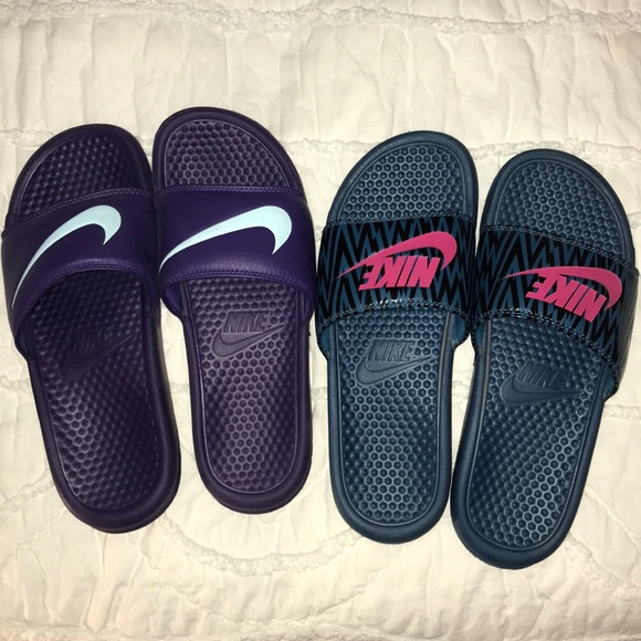Nike Shoes | 2 Pairs Of Womens Slides